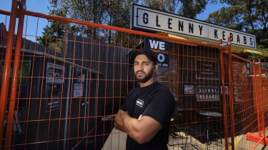 Glenny Kebabs owner Asad Syed's business has been evicted for having tables and chairs at the front of his food van.