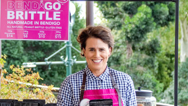 Greta Donaldson,founder and confectioner Bendigo Brittle.