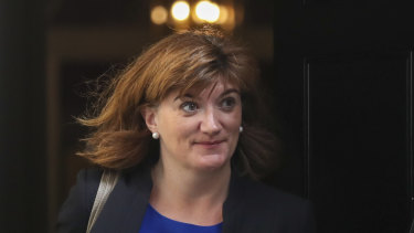Nicky Morgan, Britain's Culture Secretary.