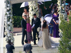 James Packer and Erica Baxter tie the knot at the Hotel du Cap-Eden-Roc in 2007.