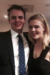 Marcus Bastiaan with his wife, Stephanie Ross.