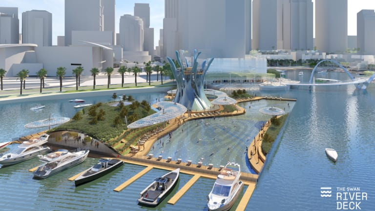 The Swan River Deck proposal has a huge swimming pool filled with filtered river water.
