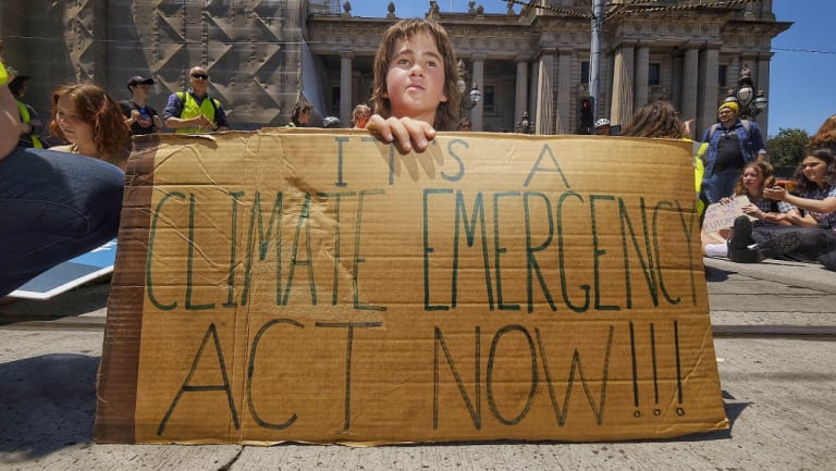 Marco Bellemo, 17, was one of thousands of students who protested the government's inaction on climate change in Melbourne.