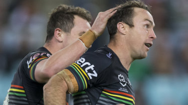 Confidence: James Maloney goes into Origin camp after kicking a match-winning field goal for Penrith.