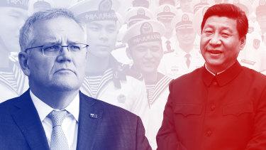 Composite: Scott Morrison, Xi Jinping