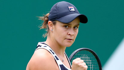 Barty wins third straight Newcombe Medal