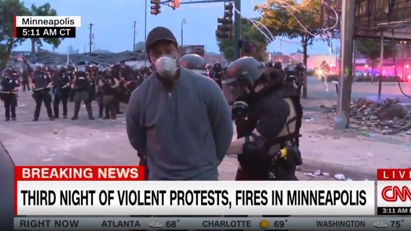 CNN reporter arrested live on air by Minnesota police, released an hour later