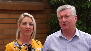 Labor's mayoral candidate Patrick Condren with councillor Kara Cook.