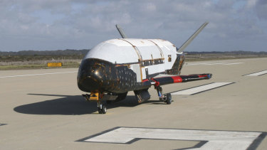 The X-37B Orbital Test Vehicle at Vandenberg Air Force Base, California. Donald Trump is pleased legislators have passed a bill to fund a Space Force.