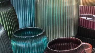 """The eponymous Brian Tunks glassware: """"Moving into glass was all about translucncy."""""""