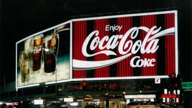 The iconic Coke sign in Sydney's Kings Cross.