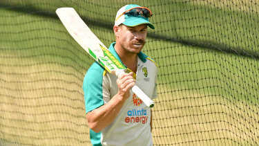 David Warner is letting his bat do all the talking ... for now.