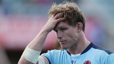 Michael Hooper (pictured) Kurtley Beale, Matt Toomua and Dane Haylett-Petty will sacrifice more than $1m between them over six months.