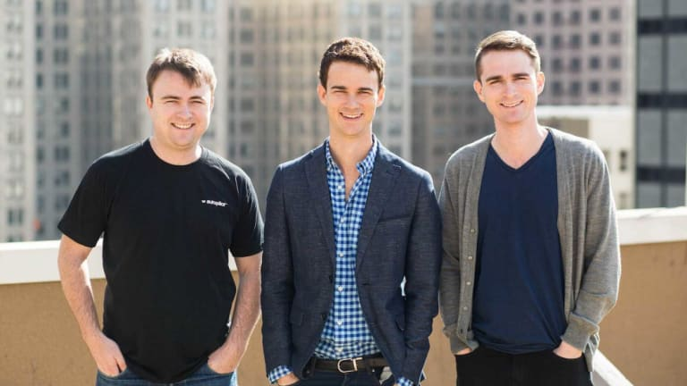 Autopilot cofounders and brothers, Chris, Mike, Peter Sharkey. Autopilot raised US$12 million last year from Salesforce Ventures and other investors.