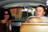An undated photo, taken in Sydney, of English tourist Peter Falconio and his girlfriend Joanne Lees in their campervan before they were attacked in the outback in 2001.
