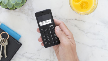 Texting on the MP02 requires tapping the numerical keys, with predictive text included.