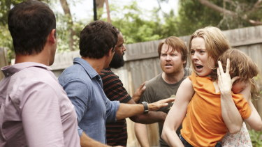 A scene from The Slap, in which Melissa George plays the mother of the child who was struck.
