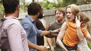A scene from ABC miniseries The Slap, based on the bestselling book and starring Melissa George.