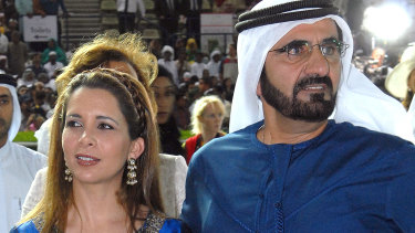 Dubai's ruler Sheikh Mohammed Bin Rashed Al Maktoum and his wife, Jordan's Princess Haya Bint Al Hussein in 2007.