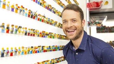 Lego Masters host Hamish Blake.