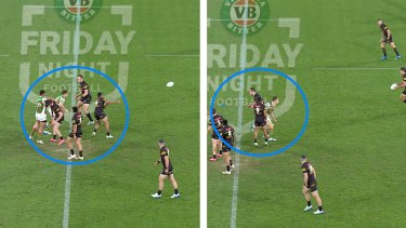 The Rabbitohs believe Penrith's Isaah Yeo moves backwards to block Cameron Murray from putting pressure on Nathan Cleary during the round 23 game a fortnight ago.