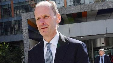 ANZ chief executive Shayne Elliott leaves the royal commission on Thursday.