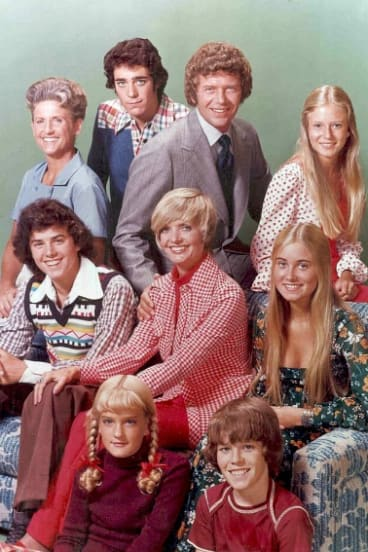 The Brady family from The Brady Bunch.