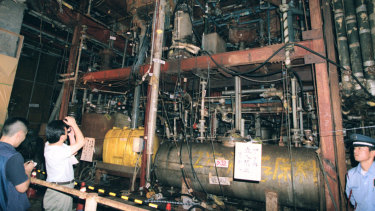 A chemical weapons facility of Aum Shinrikyo doomsday cult in Kamikuishiki,Japan, in 1998.