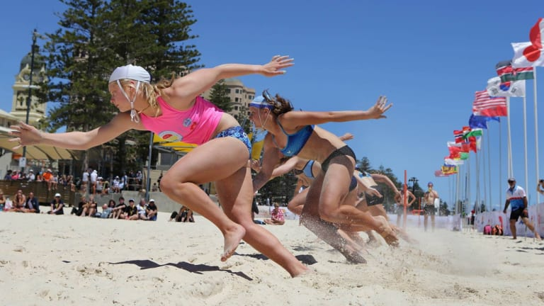 Abbey won bronze on debut at the world lifesaving championships in the 90-metre sprint.