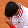 Novak Djokovic lost his cool at the Italian Open.