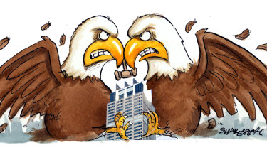 Several senior lawyers have speculated there may be trouble at rival firm KWM. Illustration: John Shakespeare