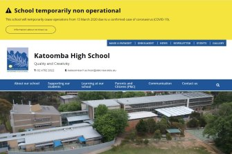 Katoomba High School will be closed on Friday after a member of the school community tested positive for coronavirus.