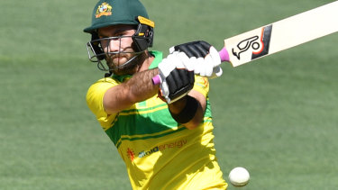 All-rounder Glenn Maxwell has produced his most mature innings since the 2015 World Cup.