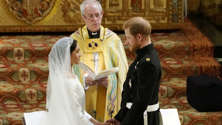 The Duke and Duchess of Sussex during the ceremony.