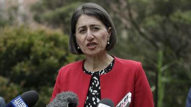 NSW PremierGladysBerejiklian on Thursday.