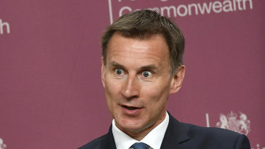 Former foreign secretary Jeremy Hunt is sounding the alarm.
