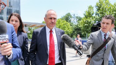 NAB chairman Ken Henry leaves the Royal Commission into Misconduct in the Banking, Superannuation and Financial Services Industry.