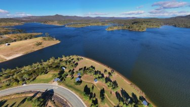 Lake Wyaralong in Queensland's Scenic Rim region.