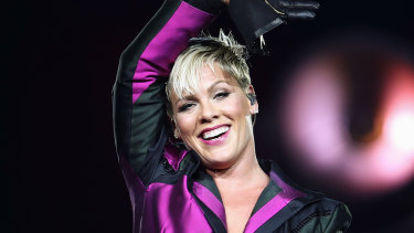 Pink performing in Sydney in August.
