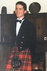 Alan Duffy at his high school formal.
