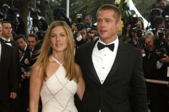 Jennifer Aniston and Brad Pitt in Cannes in 2004.