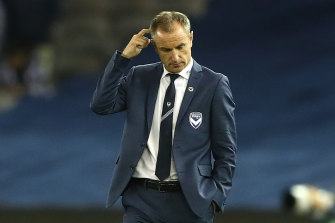 Victory coach Grant Brebner after the club's humbling loss against Melbourne City on Saturday night.