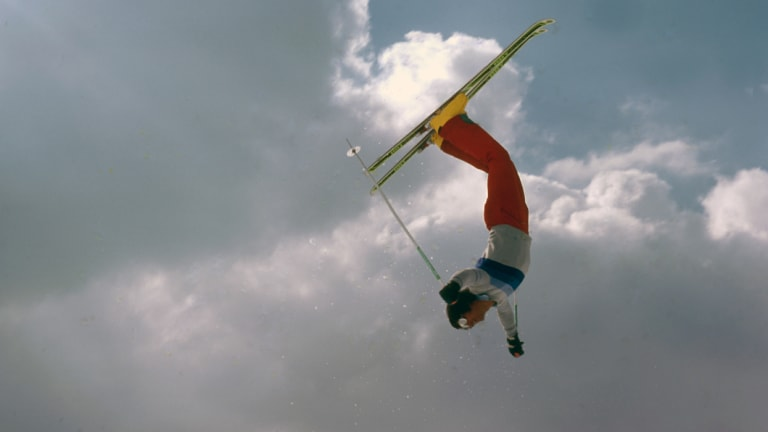 Some of the early freestyle skiing tricks during the 1970s.