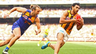 Cyril Rioli torched the Eagles in the 2015 Grand Final.