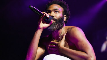 Childish Gambino on his Australian tour.