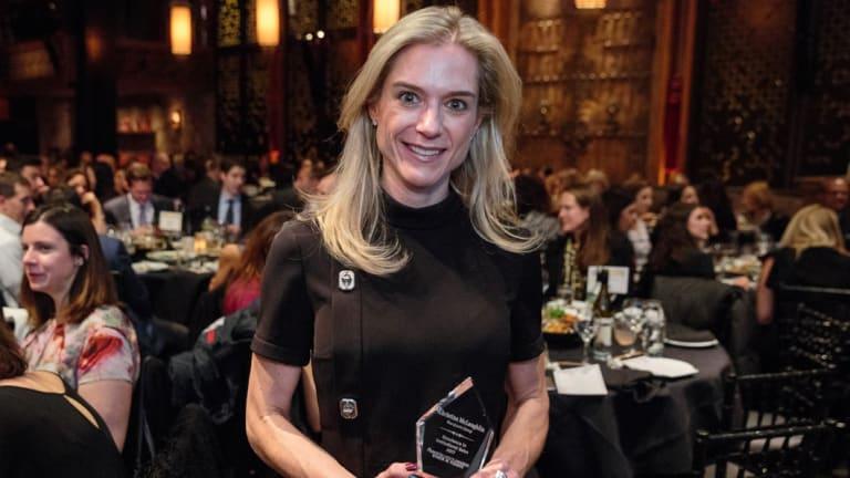 Khristina McLaughlin won an award for women in finance.