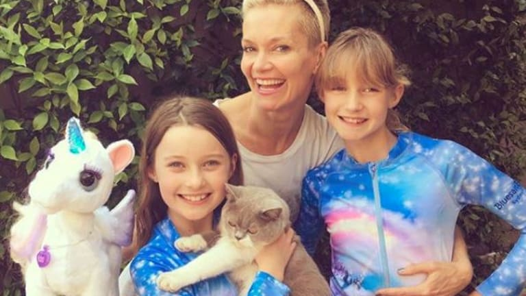 Jessica Rowe and her two daughters.