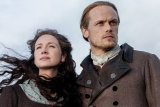 Catriona Balfe and Sam Heughan in the epic, romantic series Outlander.