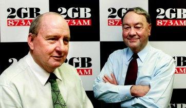 Alan Jones with John Brennan in 2002.
