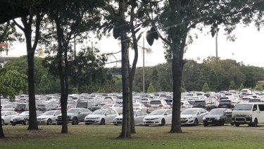 Cars packing out Moore Park: was this the greening of the city the government had in mind?